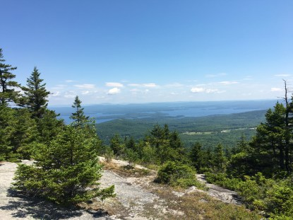 View of Winnipesaukee from the East Gilford trail, just below the junction with the upper secion of the White trail.