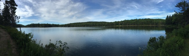 A panorama of Round Pond. Really, I think it's too big to be called a pond. It's more like a lake.