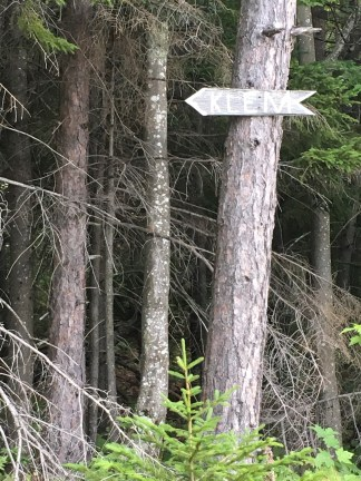 I've seen this sign for Mt. Klem in countless others' hiking photos.