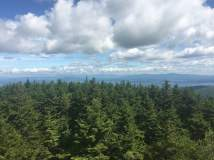 View north from the Belknap Mt. fire tower. Ossipee mountains on the other side of the lake, right half of the photo.