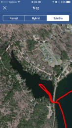 Looking at the map in satellite view, it appears I could have gone further into Pickerel Cove.