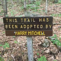 This was the trail adopter sign at the beginning of the White trail off the carriage road.