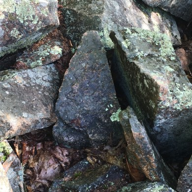 A New Hampshire-shaped rock in that last section of scrambling.
