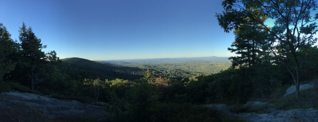 View from the overlook just off the Gunstock (orange) trail.
