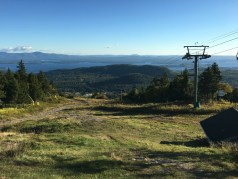 I reached the summit of Gunstock in a little under an hour. I was the only one up there!