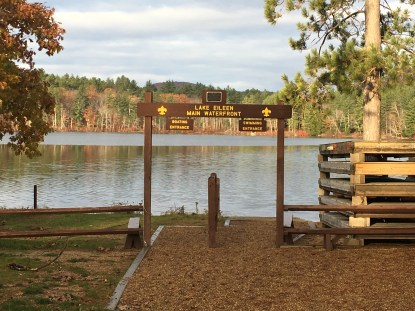 Lake Eileen at the scout camp.