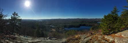 From Mt. Shannon, overlooking the scout camp.