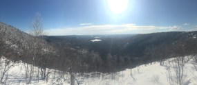 View from the white trail ledges.