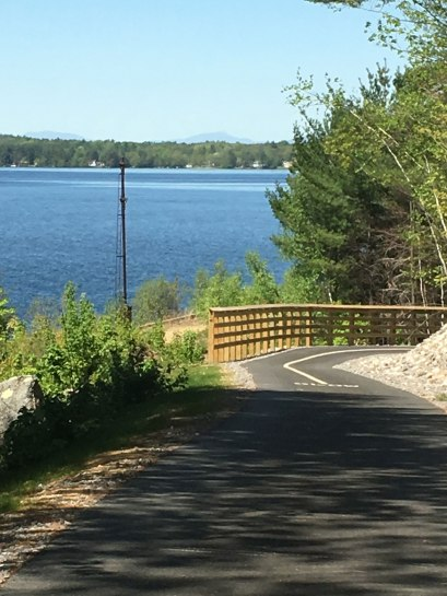 There's a great view of Mt. Chocorua from this section of the Winni Trail (as long as the clouds cooperate).