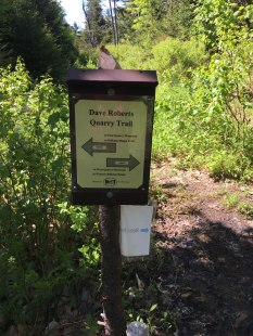 Finally arrived at the Quarry Trail!