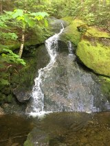 Waterfall at the second stream crossing.