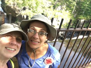 With Mela on the bridge over the falls.