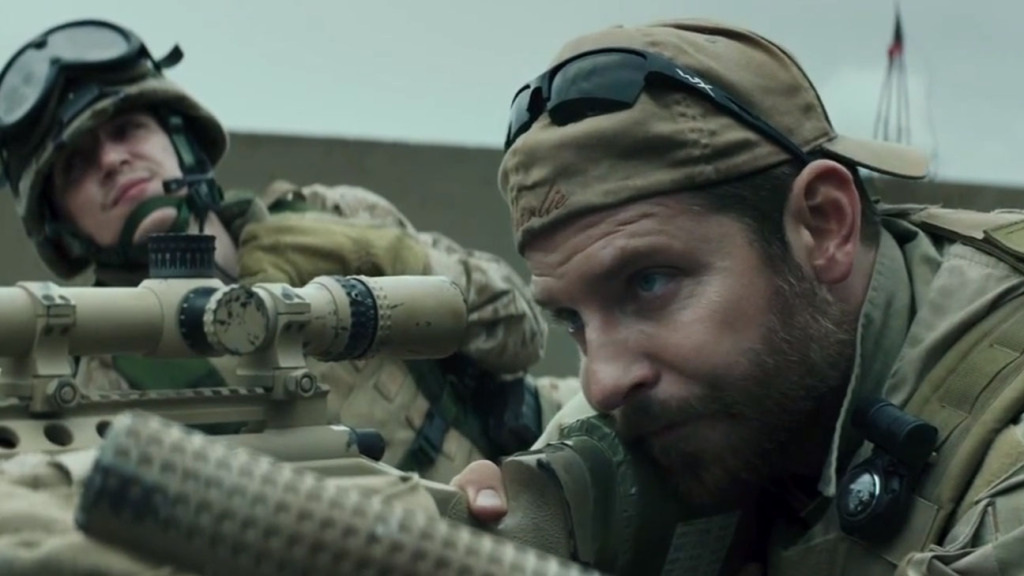 Above: Bradley Cooper stars as Chris Kyle in