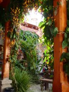 The atrium of the Holistico Hostal