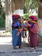 Women sell scarves in the Central Park located in Antigua, Guatemala