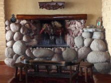 The Massive Fireplace in Laguna Lodge