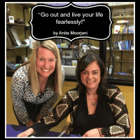 Quote - Live your life fearlessly by Anita Moorjani