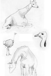 Sketchbook Page Giraffe