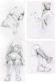 Sketchbook Page People Long Studies