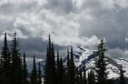 Chalet Loop Trail view stormy sky