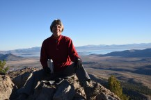 Savoring my coffee at the summit