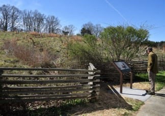 Magnum Mound site - one of many ancient Native American ceremonial and burial mounds evident along the trace