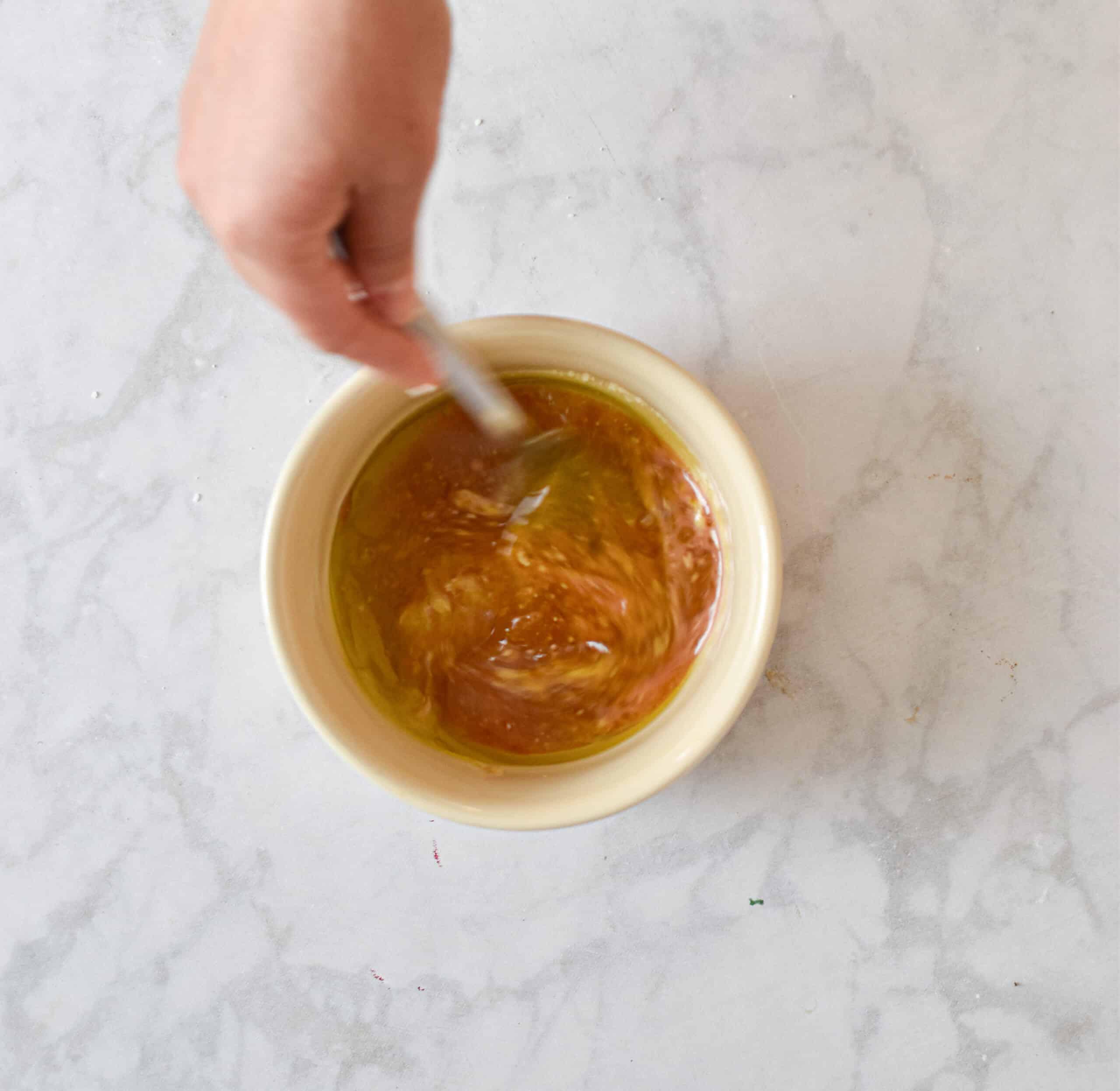 Add dijon mustard and mix