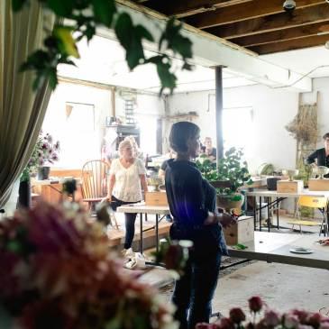 farmer florist Andrea Gagnon of LynnVale Studios, photo by Kate Headley