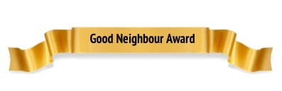 Good Neighbour Award Winner Ribbon