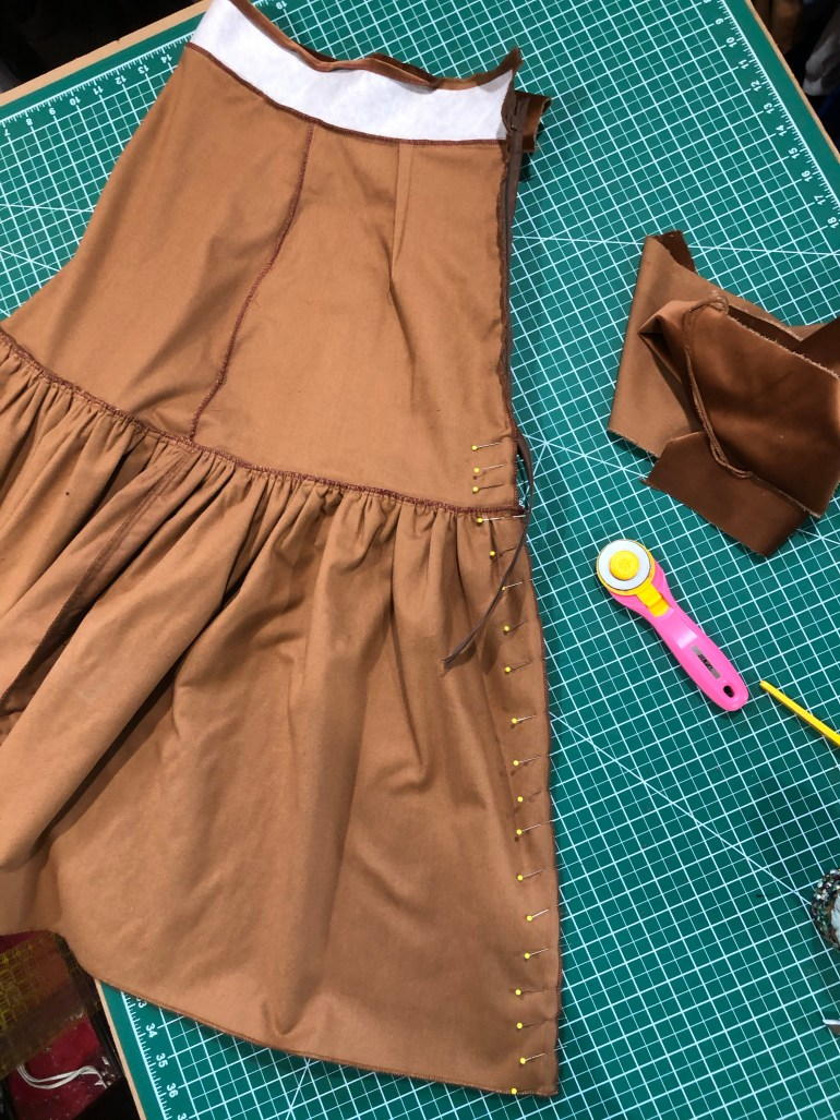 velvet skirt invisible zipper