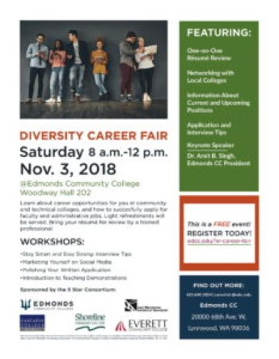 Edmonds Cc To Host 5 Star Diversity Career Fair Nov 3 Mltnews Com
