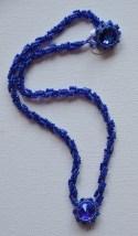 Violet blue Swarovski crystals on a spiral rope
