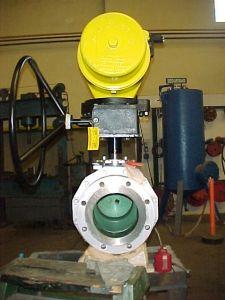 valvula de bola, con actuador hytork