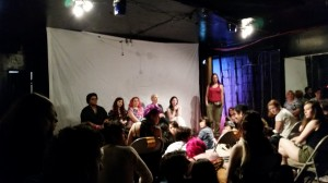 The Performer Panel at the QPFF (Cinnamon Maxxine, Chelsea Poe, April Flores, Drew Deveaux, Stoya, and Tobi Hill-Meyer moderating).