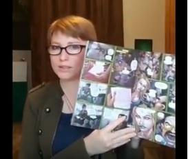 lynsey g holding pages of tracy queen