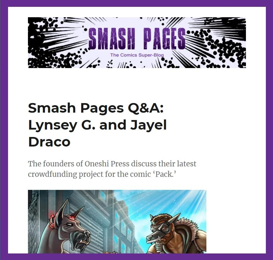 smash pages pack q&a lynsey g jayel draco