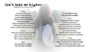 Can't take me higher - LYRICS - (c) Lyn V. Conary