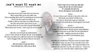 I don't want U2 want me - LYRICS - (c) Lyn V. Conary