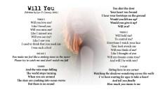 Will You - LYRICS - (c) Lyn V. Conary