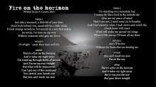 Fire On The Horizon - LYRICS - (c) Lyn V. Conary