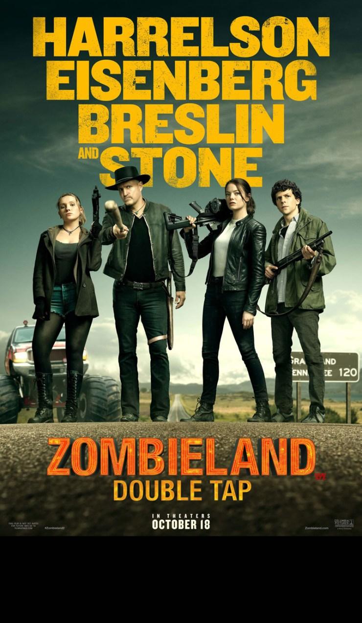 'Zombieland: Double Tap', Woody Harrelson, Jessie Eisenberg, Emma Stone star in Sequel