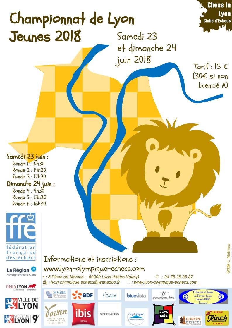 Championnat de Lyon Jeunes 23 et 24 juin 2018 : 30 inscrits pour le moment !!