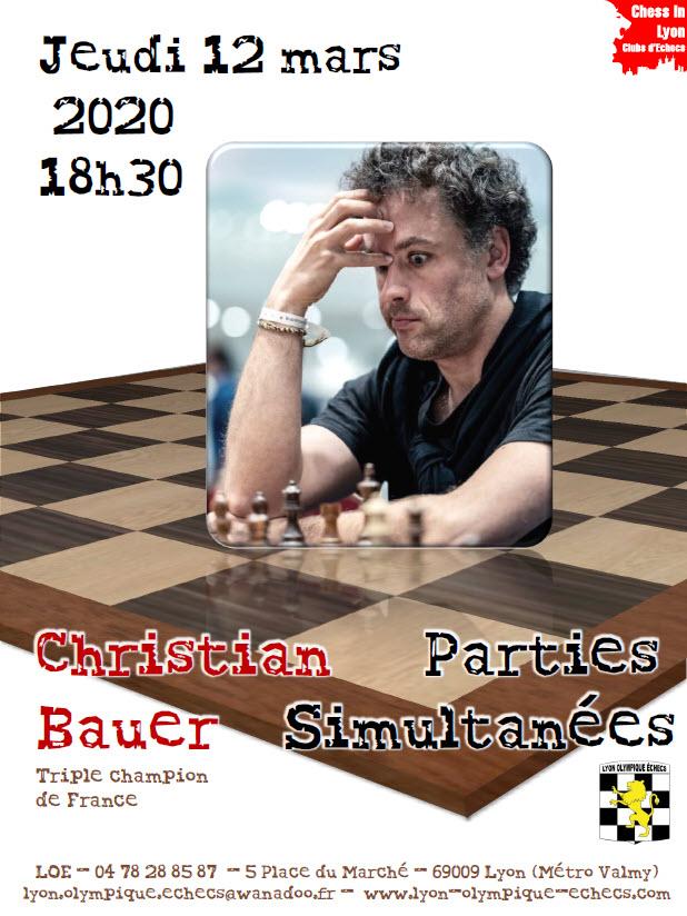 Affiche Simultanée Bauer 12 mars 2020