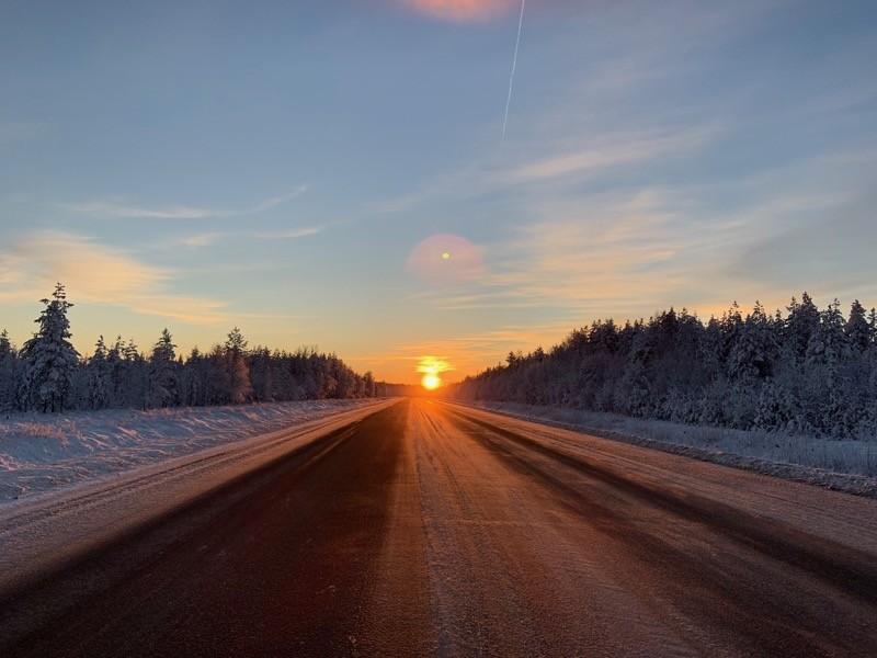 Coucher de soeil Rovaniemi