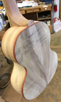 UKU-T-13 Tenor ukulele ready to finish
