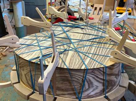 gluing back to body