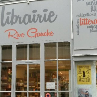 enseigne librairie Rive Gauche