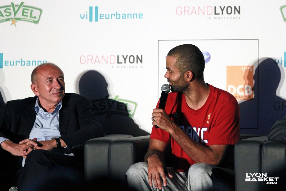 Tony Parker Gerard Collomb Maire Lyon Basketball