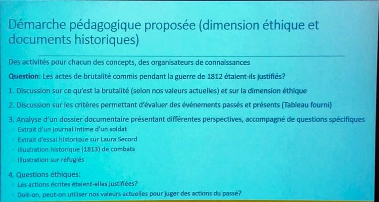 Diapositive de la présentation de Sabrina Moisan
