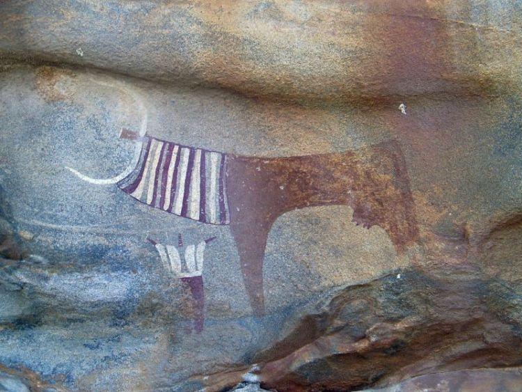 "Art rupestre de ""Laas Geel Somaliland""• Crédits : © Xavier Gutherz"